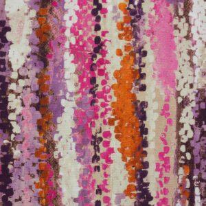 2,80m breiter Panama, abstrakt gemustert, Beere, Beige, Rost