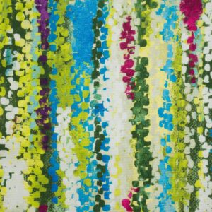 2,80m breiter Panama, abstrakt gemustert, Grüntöne, Blautöne, Beere