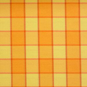 2,80m breiter Jacquard, Webkaro, Orangetöne, Gelbtöne