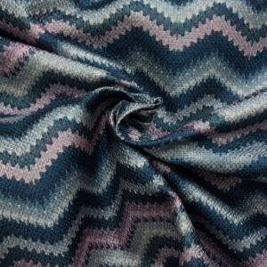 Polsterstoff, Chevron-Muster, Blautöne, Lilatöne