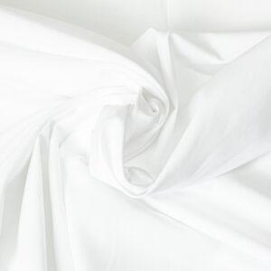 Popeline, uni, Weiß