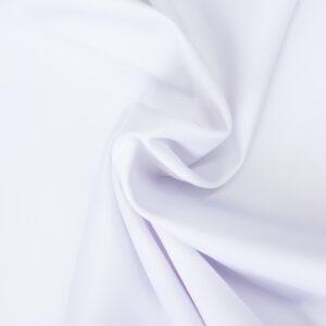 Baumwollsatin, uni, Weiß