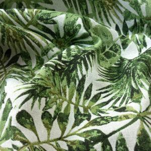 Gobelin, Blätter, Grüntöne, Offwhite
