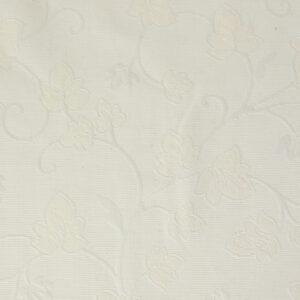 2,80m breiter Jacquard, Blütenzweige, Creme