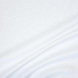 Jacquard, Zweige, Blätter, Weiß