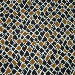 abstrakt gemustert, Braun, Schwarz, Weiß