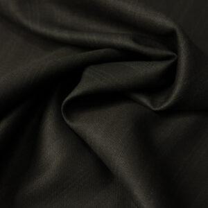 Kammgarn, Webstreifen, Taupe dunkel, Schwarz
