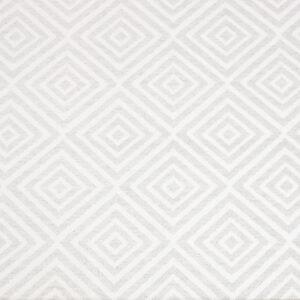 2,80m breiter Jacquard, grafisch gemustert, Grau, Weiß
