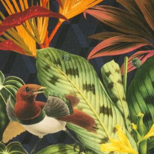 Panama, Flora und Fauna, Dunkelblau, Rottöne, Grüntöne