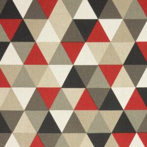 Panama, geometrisch gemustert, Rot, Grautöne, Natur