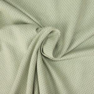 Jacquard, grafisch gemustert, Graugrün