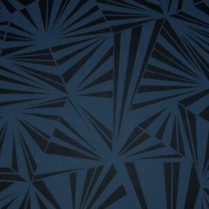 Sommersweat, grafisch gemustert, Blau, Dunkelblau
