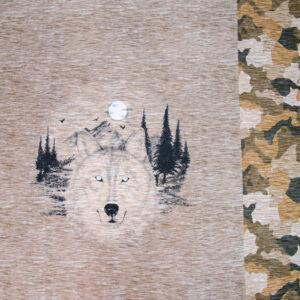 Sommersweat, Tiermotive, Camouflage, Brauntöne