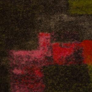 Walkstrick, abstrakt gemustert, Brauntöne, Senfgelb, Rot, Pink