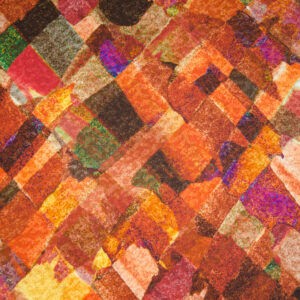 Viskosejersey, abstrakt gemustert, Rottöne, Grüntöne, Lilatöne, Brauntöne