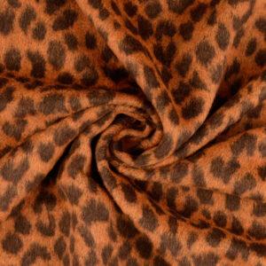 Mantelflausch, Leopardenmuster, Rostorange, Kastanie