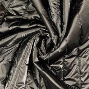 edler Steppstoff, metallic, uni, Dunkelblau, Graugrün