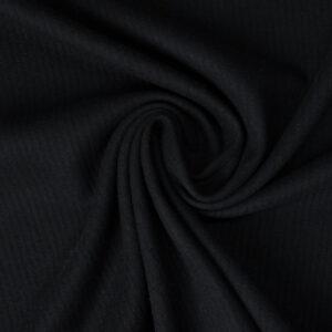 Manteltuch, Webstreifen, Schwarz