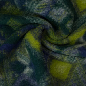 Walkstrick, Ethno-Muster, Grüntöne, Blautöne