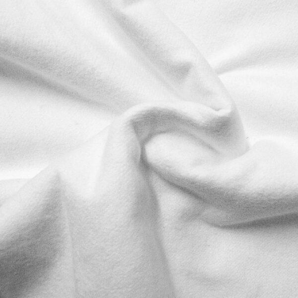 schwer entflammbarer Molton, uni, Weiß