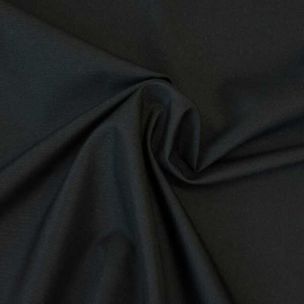robustes Kunstfasergewebe, uni, beschichtet, Schwarz