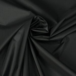 beschichtetes Kunstfasergewebe, uni, beschichtet, Schwarz