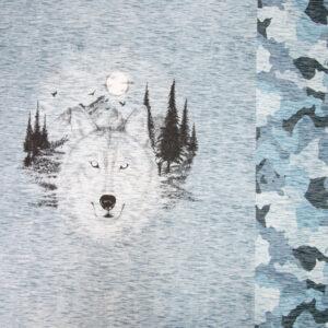 leichter Sweat, Tiermotive, Camouflage, Hellblau