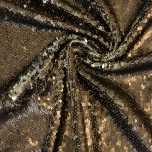 Wendepaillette, bicolor, Braun, Silber
