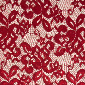 Spitze, floral gemustert, Rot
