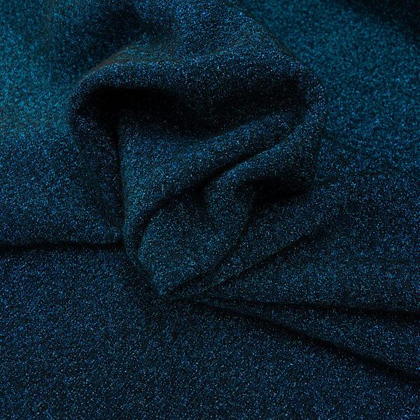 Walkbouclé, uni, Blau