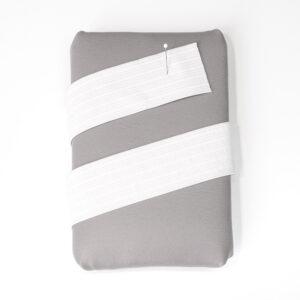 Elasticband, Nahtbahnenband, Weiß, 40 mm