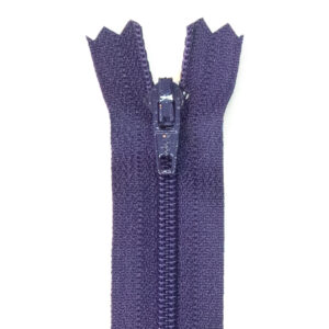 Reißverschluss, nicht teilbar, Kunststoff, Lila, 40 cm