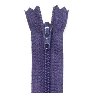 Reißverschluss, nicht teilbar, Kunststoff, Lila, 60 cm