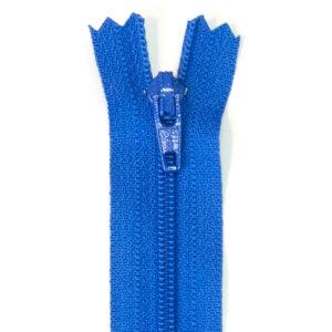 Reißverschluss, nicht teilbar, Kunststoff, Royalblau, 16 cm