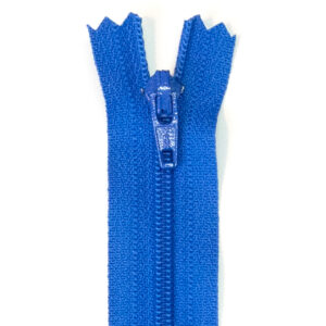 Reißverschluss, nicht teilbar, Kunststoff, Royalblau, 25 cm