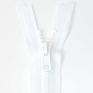 Reißverschluss, teilbar, Kunststoff, Weiß, 30 cm
