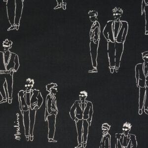 figurativ illustriert, Schwarz, Weiß