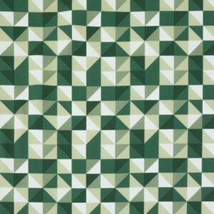Softshell, geometrisch gemustert, Grüntöne