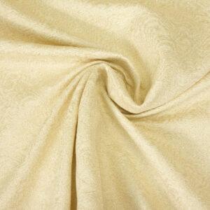 hochwertiger Jacquard, Glanzeffekt, ornamental gemustert, Creme, Gold